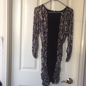 BCBG tight dress- black wit brown and black colors